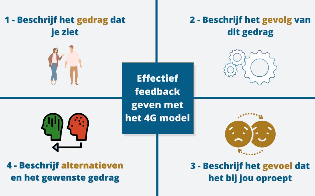 Effectief feedback geven en ontvangen met het 4G-model